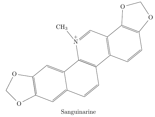 chemische Struktur von Sanguinarine.