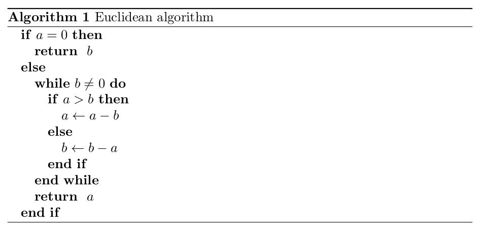 Euklidischer Algorithmus als Pseudocode Beispiel